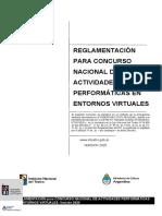 Reglamentación_Concurso Nacional de Activididades Performáticas en Entornos Virtuales