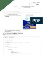 C++ Tic Tac Toe Game project