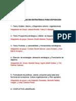 TEMAS DE PLANEACIÓN ESTRATÉGICA PARA EXPOSICIÓN