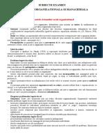 SUBIECTE EXAMEN PSIHOLOGIE   ORGANIZATIONALA 2018