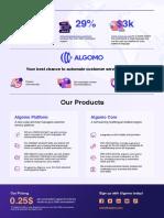 Algomo One page brochure