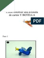 Elaborar Una Avioneta Con Cartón y Botella