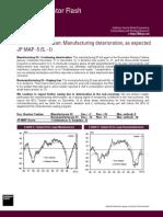 Japan Indicator Flash Manufact Deterioration 12/07/10
