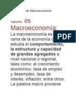 Significado de Macroeconomía
