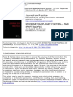 Stories from planet football and sportsworld Source relations and collusion in sport journalism