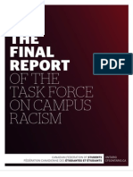 Final Report of the Task Force on Campus Racism - Canadian Federation of Students - Ontario