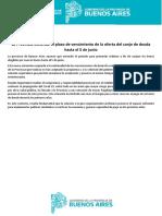 El gobierno bonaerense anunció la extensión del vencimiento de la oferta de canje de deuda