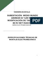 EETT MOntaje Electromecanico SET Huacho 66 kV (Proy M Mundo)