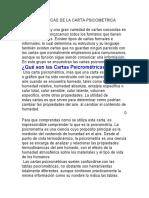 CARACTERISTICAS DE LA CARTA PSICOMETRICA