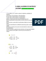 ALGEBRA LINEAL ALGEBRA DE MATRICES APLICACIONES taller 2