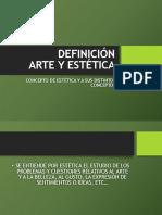 ARTE Y ESTÉTICA