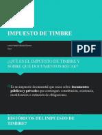 IMPUESTO DE TIMBRE