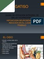 diapositiva de hipoacusia