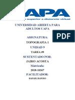 UNIVERSIDAD ABIERTA PARA ADULTOS UAPA TAREA 9 TOPOGRAFIA
