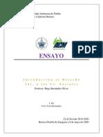 ENSAYO - ALEGORÍA DE LA CAVERNA - INT. AL DERECHO Y INT. A LAS CS. SOCIALES