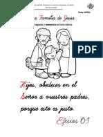 ACTIVIDAD LA FAMILIA DE JESÚS.