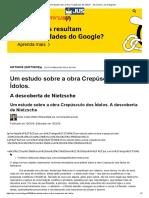Um estudo sobre a obra _Crepúsculo dos Ídolos_ - Jus.com.br _ Jus Navigandi