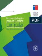 Propuesta Registro Curricular Orientación