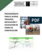 PTS 006 - ACOPIO, TRASLADO, INSTALACIÓN Y COLOCACIÓN DE FIERRO DE CONSTRUCCIÓN.docx