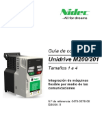 Spanish Unidrive M200-201 QSG Iss8(0478-0076-08)_Approved