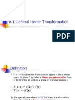 General Linear Transformations