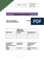 Manual de Calidad  Ingemaster 2015