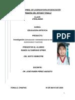 EXPLORACION Y EXPERIMENTACION DE DIVERSAS FORMAS AUDIOVISUALES Y PLASTICAS Efren Ramos