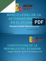 4_Rol de la agencia de regulacion y control minero - Ecuador - D.Chamba