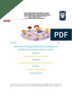 Diseño de Diferentes Estrategias Didácticas Orientadas a La Producción de Textos Orales y Escritos