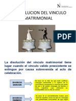 DISOLUCION DEL VINCULO MATRIMONIAL