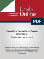 8. Sinopsis de evolución en cuatro dimensiones