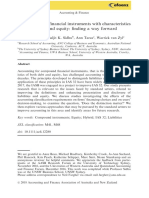 Accounting for financial instruments with characteristics of debt and equity