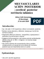 EVC territorio  posterior ACP y talamico  definitivo