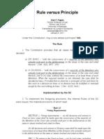 Rule v. Principle, 1-4-11 - Alan Paguia