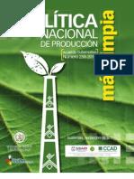 Politica Nacional de Produccion Mas Limpia (Acuerdo Gubernativo 258-2010)
