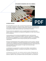 RADIO DIFUSIÓN SONORA EN COLOMBIA parte 1