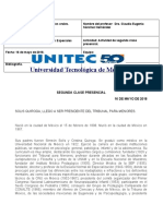 ACTIVIDAD DE LA SEGUNDA CLASE PRESENCIAL PROCEDIMIENTOS PENALES ESPECIALES 12   05 2018