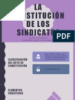 Constitución de Los Sindicatos