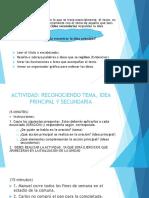 IDEA PRINCIPAL - SECUNDARIA (EJERCICIOS)