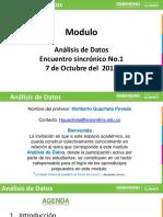 Presentación- Análisi de Datos- Eje No. 1- Octubre 7- 2019-1