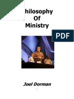 Joel's Philosophy of Ministry