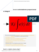 Diferenças entre controlador proporcional e integral - Embarcados