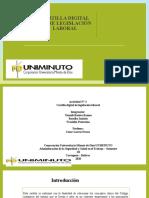 Actividad No. 3  Mapa conceptual clasificación de los contratos de trabajo