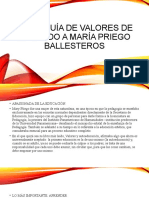 Jerarquía de valores de acuerdo a María Priego