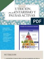 Nutrición, sedentarismo y pausas activas