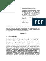 SENTENCIA SOBRE DEMANDA DE INCONSTITUCIONALIDAD