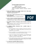 GUIA PARA EXAMEN PLANIFICACION III