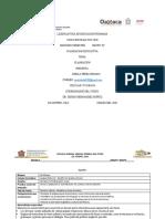 31 de Marzo Del 2020 Formatos de Planificacion