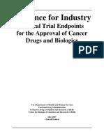 FDA Anticancer drug trail