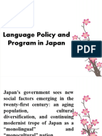 Language Policy and Program in Japan